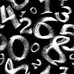 Seamless pattern - White digits — Stock Photo