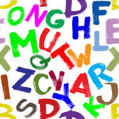 Seamless alphabet — Stock Photo