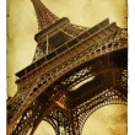 Postcard with Eiffel towe — Stock Photo