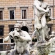 Fountain on the place Navona - Stockfoto