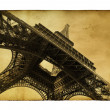 Postcard with Eiffel towe - Stock Photo