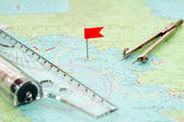Navigation supplies — Stock Photo