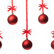 Royalty-Free Stock Photo: Christmas balls  with ribbons and bow