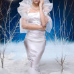Beauty woman under moon — Stock Photo #4989267