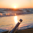 Message in a Bottle - Stockfoto
