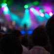 Time exposure at a concert — Stock Photo