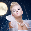 Royalty-Free Stock Photo: Beauty woman  under moon