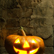 Stock Photo: Halloween pumpkin in night