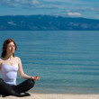 Stock Photo: Beautiful girl meditating