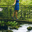 Stock Photo: Beauty womin blue dress