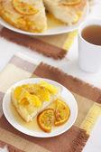 Cake with oranges — Stock Photo