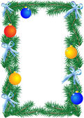 クリスマスの境界線 — 图库矢量图片
