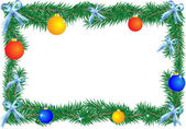 Kerstmis grens — Stockvector