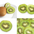 Collection of kiwi — Stock Photo