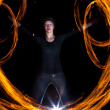 Fire dance — Stock Photo