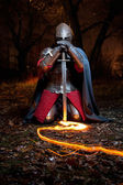 Medieval khight — Stock Photo