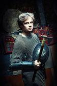 Medieval Warrior — Stock Photo