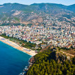 Alanya city hill, sea coast — Stock Photo