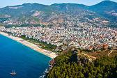 Alanya city hill, sea coast — Stock Photo