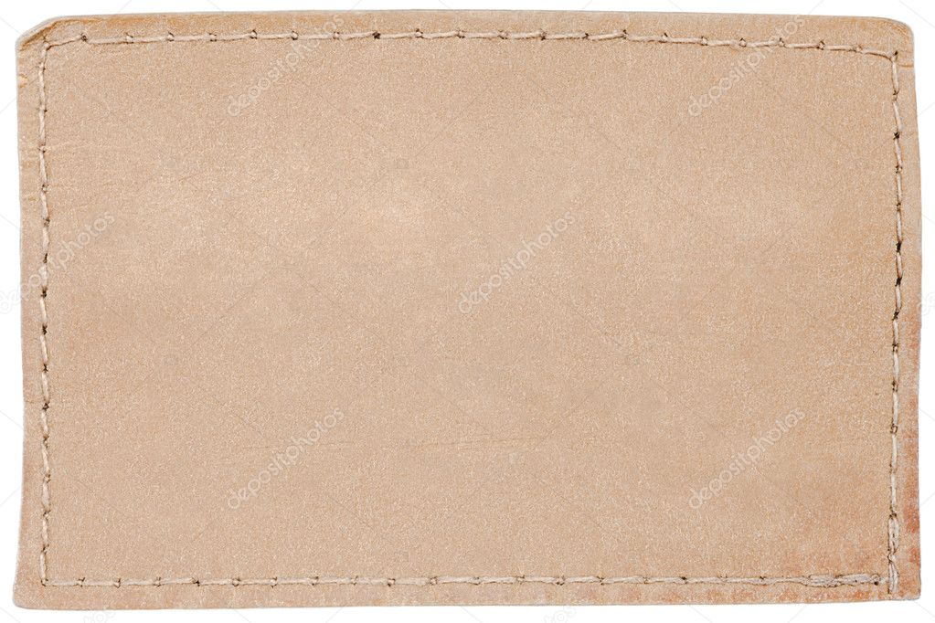Blank leather jeans label isolated on white — Stock Photo #4373306