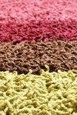 Samples of collection carpet — ストック写真