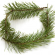 Christmas frame made of pine branches — Stock Photo #4218491
