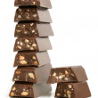 Stack of chocolate pieces - Stok fotoğraf
