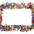 Celebration stars frame — Stock Photo
