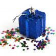 Royalty-Free Stock Photo: Christmas toy with confetti