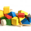Wooden building blocks - Stok fotoraf