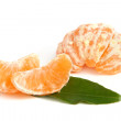 Slices of peeled tangerine — Stock Photo