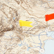 Flags on a map — Stock Photo #5091782