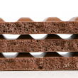 Royalty-Free Stock Photo: Stack of porous chocolate pieces