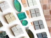 Collection ceramic tile — Stockfoto