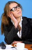 Pensive businesswoman — Stock Photo