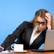 Tired business woman — Stock Photo #5256706