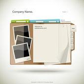 Web sitesi tasarım şablonu — Stok Vektör