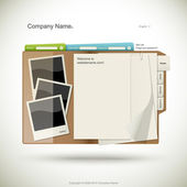Website design template — Stock Vector