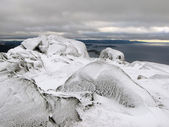 Top of the mountain. Kola peninsula, Russia — Stock Photo