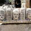 Ancient bas-relief at the amphitheater in Myra, Turkey — Stock fotografie
