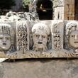 baixo-relevo antigo no anfiteatro em myra, Turquia — Foto Stock