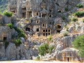 Lycian tombs in Myra, Turkey — Photo