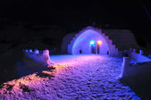 Ice hotel — Stock Photo