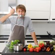 Man in kitchen — Stock Photo #3927802