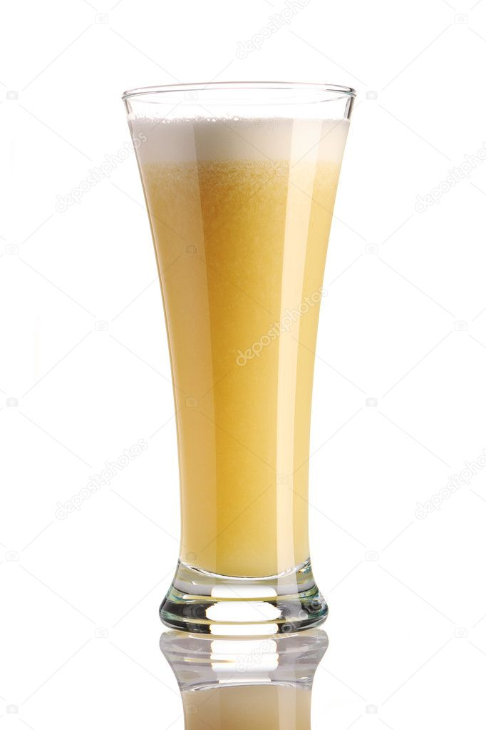 Banana smoothie isolated on white  Stock Photo #3927718