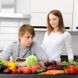 Couple cooking — Stock Photo #4127413