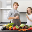 Couple cooking — Stock Photo #4127414