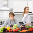 Couple cooking — Stock Photo #4160496