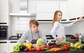 Кулинария пары — Стоковое фото