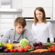 Couple cooking — Stock Photo #4179326